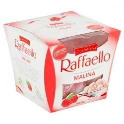 Ferrero Raffaello Malina Chrumkavá oblátka posypaná strúhaným kokosom, s mandľou vo vnútri 150 g