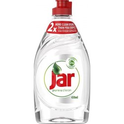 Jar Pure & Clean Original Prostriedok Na Umývanie Riadu S Obsahom 0 % Parfumov A Farbív 450ml