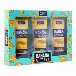 Xpel Banana vyživující šampon na vlasy 100 ml + kondicioner na vlasy 100 ml + sprchový gel 100 ml darčeková sada