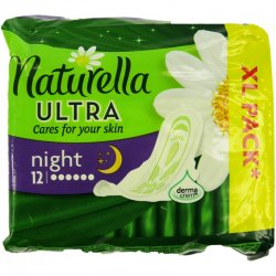 Naturella Ultra Night Vložky s Krídelkami 12ks