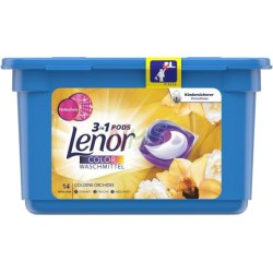 Lenor Silk Orchid 3v1 kapsle na praní Color 17ks
