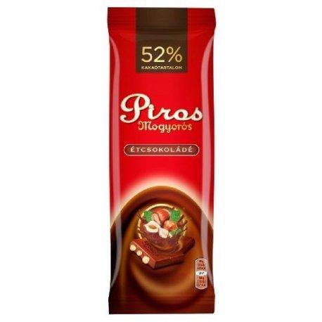 Piros Mogyorós čokoláda horká 80 g