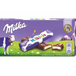Milka Milkinis čokoládové tyčinky s mliečnou náplňou 87,5 g