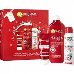 Garnier Repairing Care  telové mlieko 400 ml + regeneračný krém na ruky 100 ml + Magnesium ultra dry deodorant 150 ml