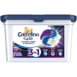Coccolino Care Black & Dark gélové kapsuly na pranie 18 praní
