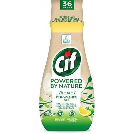 Cif Powered by Nature All in 1 gél do umývačky riadu 640 ml