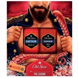 Old Spice kazeta Captain Shower Gel + Sampon 250 ml + Deodorant Stick 50 ml
