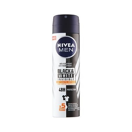 Nivea pánsky deodorant - Black & White Invisible Ultimate 150 mlImpact