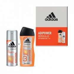 ADIDAS Adipower pánska darčeková kazeta sprchový gel 250ml + deodorant 150ml