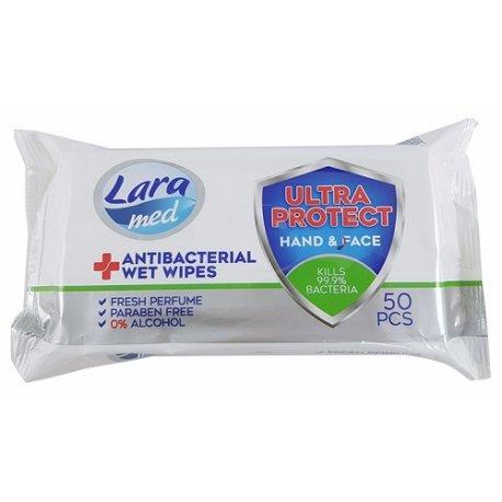 Lara Antibakteriálne vlhčené utierky  50ks