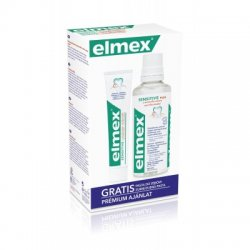 Elmex ústná voda 400ml + zubná pasta sensitive 75 ml