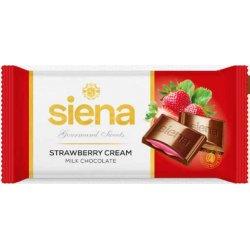 Siena čokoláda mliečná jahod. krem 100 g