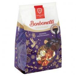 Bonbonetti Vianočné salonky viacerých príchutí máčené v horkej a mliečnej čokoláde 345 g