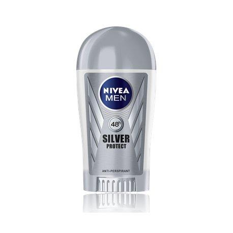 Nivea pánsky tuhý antiperspirant 40 ml - Silver protect
